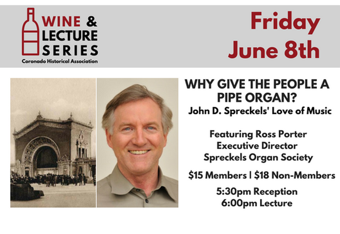 Wine & Lecture: Spreckels' Love of Music image